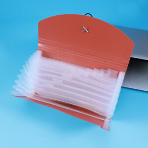 13 Pockets Simple Document File Folder Portable Elastic Band Plastic Expanding A