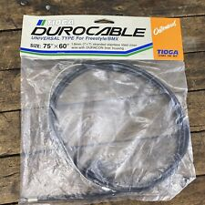 NOS Old School BMX Tioga Brake Cable Stamped Logo Wire Durocable A1