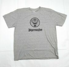 JAGERMEISTER MEN'S LOGO GRAPHIC T-SHIRT JAGER Gray short sleeve XL X-Large Y5