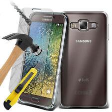 Ultra Durable Clear TPU Gel Skin Case Cover & Glass for Samsung Galaxy E5