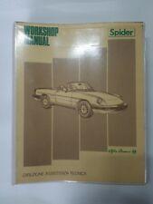 1986 Alfa Romeo Spider Veloce WorkShop Service Repair Manual Huge
