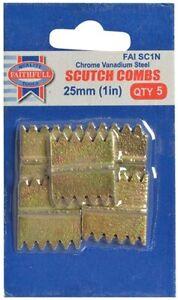 "Faithfull SC1N Scutch Chisel Bits; 25mm (1"") - Pack 5"