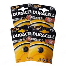 4 Batterie CR2032 DURACELL pulsante Litio 3V CR 2032 DLC 2025
