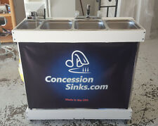 Concession Sink, Large Propane *Portable 3 compartment sink*