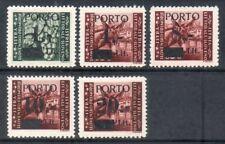 ISTRIA LITORALE SLOVENO 1945 - OCC.JUGOSLAVA SEGNATASSE SERIE CPL. 5 VAL. MH*