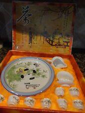VINTAGE JAPANESE CHINESE ORIENTAL SAKE SET BOWL PLATE TEA SET