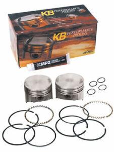 "Keith Black Domed Piston Kit Harley 80"" Shovelhead 7.2:1 Compression KB288.STD"