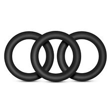 Performance VS2 Silicone Cock Rings 3 Pack Small Black - Male Sexual Enhancer