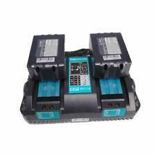 Per Makita PowerSet 2x BL 1850B Batteria 5.0Ah 18V + DC18RD Caricatore doppio FR