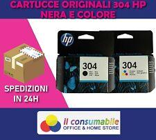 CARTUCCE ORIGINALI HP 304BK+304C PER HP DeskJet 2630 2632 2633 3720 Envy 5020