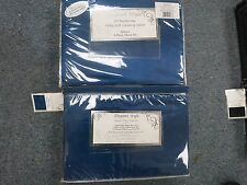 SILKY SOFT Satin 6 piece QUEEN Sheet Set BLUE Polyester NEW DEEP FITTED 17 INCH