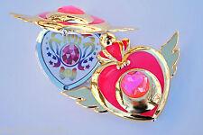 Sailor Moon Super S Crises Heart Compact Mirror Brooch Locket Cosplay Doll Prop