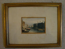 ANTIQUE WATERCOLOUR GRAND CANAL VENICE UNSIGNED , FRAMED AND GLAZED