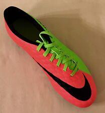 Men Nike Hypervenom Phade III FG Soccer Cleats Shoes Green & Crimson 852547-308