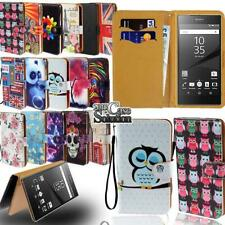 Flip Leather Stand Cover Phone Case For Sony Xperia L 1/2/3 M 1/2/4/5 T 1/2/3