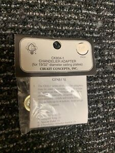"""Cir-Kit #CK804-1 1"""" Scale Dollhouse Chandelier Adapter For 19/32"""" Ceiling Plates"""