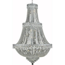 FRENCH EMPIRE LARGE FOYER DINING ROOM CHROME CRYSTAL CHANDELIERS KITCHEN HALLWAY