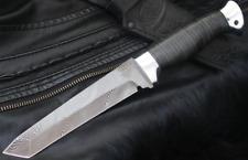 "Author's premium forged Damascus steel Japan style tanto knife ""Samurai"""