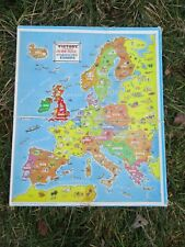 """Vintage VICTORY PLYWOOD JIGSAW """"INDUSTRIAL LIFE IN EUROPE"""" Complete"""