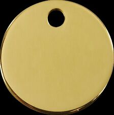Job Solid Brass Dog Tags 38mm Round Engraving Wholesale BULK Joblot 593ef98865a4