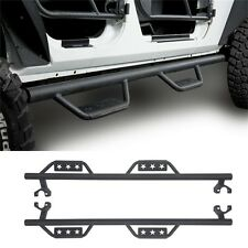 Solid Steel Side Step Nerf Bar Running Board for 07-17 Jeep Wrangler JK 4-Door