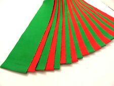 "Jelly roll  20- 2 1/2"" x 44"" Christmas Red and Holiday green cotton die cut"