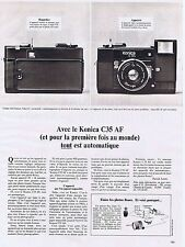 PUBLICITE ADVERTISING 114 1979 KONICA C35 AF appareil photo