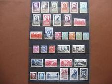 FRANCE neufs UN BON LOT DE 87 TIMBRES AVEC TRACES DE CHARNIERES (1948-50)