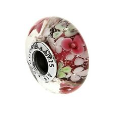 GENUINE PANDORA FLOWER GARDEN MURANO GLASS CHARM 791652
