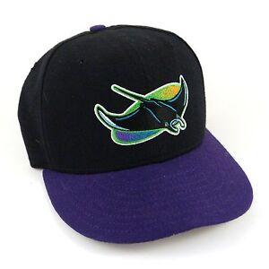 Baseball Cap TAMPA BAY DEVIL RAYS Black/Purple New Era 59Fifty Fitted 6 5/8 S