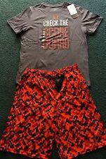 NWT Boys Under Armour XL Gray/Neon Red/Black CHECK THE SCOREBOARD Shorts Set YXL