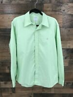 Brooks Brothers Men's Green Slim Fit Long Sleeve Button Up Shirt Size L