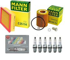OEM Tune Up Oil Filter  Air Filter & 6-NGK Platinum Spark Plugs For BMW E39 E46