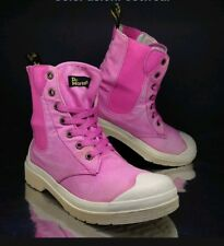 Dr Martens Womens Ankle Boots Pink UK 6 Canvas Army Fatigue VTG Combat EU 39