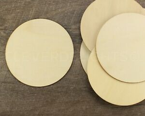 """4 Inch Wood Circles - 3/32"""" Thick - 4"""" Round Unfinished Craft Shapes - 50 100"""