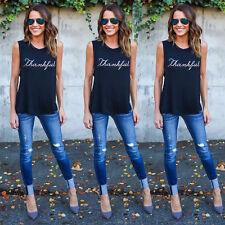 Fashion Women Summer Casual Tank Tops Vest Blouse Sleeveless Crop Tops Shirt