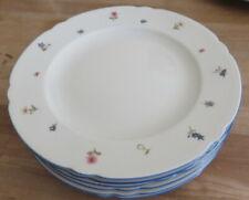 Seltmann Marie-Luise blauer Rand Streublume 6 Speiseteller 25 cm Neu