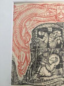 Afro-American Artist Allan  Rohan Crite Rare Letter and Print 1960s