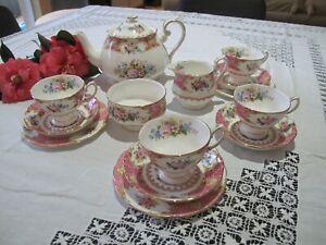 "ROYAL ALBERT ""LADY CARLYLE"" 14 PIECE TEA SET"