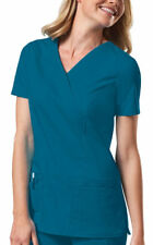 Cherokee Women's New Short Sleeve Front Patch Pockets Twill Scrub Top. 4728