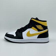 Nike Air Jordan 1 Mid White Pollen Black Sneaker 554724-177 NEU Herrenschuhe