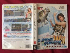 Wii Bass Fishing JAPANESE Rokumaru Densetsu 2007 TESTED WORLD FREE POST