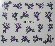 Accessoire ongles : nail art - Stickers autocollants motif bouquets de violettes