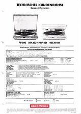 Service Manual-Anleitung für Nordmende RP 990,RP 991
