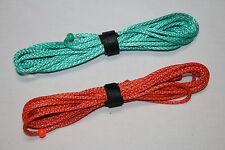 7ft Ultralight Whoopie Slings - Amsteel - Green/Orange - Hammock Suspension  USA