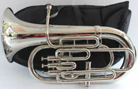EUPHONIUM Bb PITCH NICKEL SILVER WITH FREE BAG & MP GIFT FOR FATHER