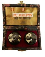 Vintage Chinese Iron Ball Direction Relaxation Stress Relief Panda Design chimes