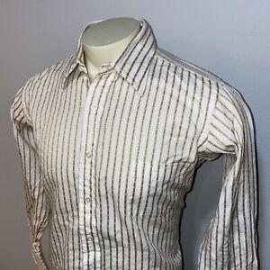 Vtg 50s 60s SULKA Stix Baer & Fuller Dress Shirt Mid Century Cotton Mens 16.5 33