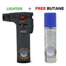 Eagle Jet Torch Lighter Adjustable Flame Windproof with butane - BLACK