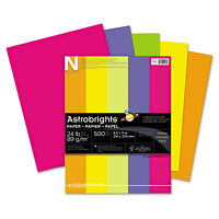 Neenah Paper Astrobrights Colored Paper 24lb 8-1/2 x 11 Assorted 500 Sheets/Ream